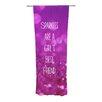 KESS InHouse Sparkles are a Girls Best Friend Curtain Panels (Set of 2)