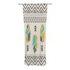 KESS InHouse Painted Feathers Curtain Panels (Set of 2)