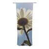KESS InHouse Daisy Bottom Curtain Panels (Set of 2)