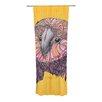 KESS InHouse Lovely Owl Curtain Panels (Set of 2)