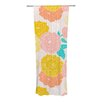 KESS InHouse Peonies Curtain Panels (Set of 2)