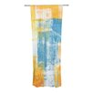 KESS InHouse Color Combo Curtain Panels (Set of 2)