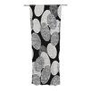 KESS InHouse Seeds Monochrome Curtain Panels (Set of 2)