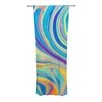 KESS InHouse Rainbow Swirl Curtain Panels (Set of 2)