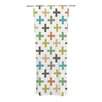 KESS InHouse Hipster Crosses Repeat Curtain Panels (Set of 2)