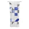 KESS InHouse Winter Geometry Curtain Panels (Set of 2)