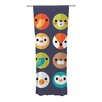 KESS InHouse Smiley Faces Curtain Panels (Set of 2)