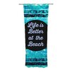 KESS InHouse Life is Better at the Beach Curtain Panels (Set of 2)
