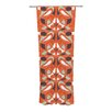 KESS InHouse Orange Swirl Kiss Curtain Panels (Set of 2)
