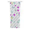 KESS InHouse Squares Curtain Panels (Set of 2)
