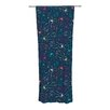 KESS InHouse Fireflies Midnight Garden Curtain Panels (Set of 2)
