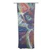 KESS InHouse Rave Kitty Curtain Panels (Set of 2)