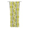 KESS InHouse Whirling Leaves Curtain Panels (Set of 2)