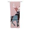 KESS InHouse Oh Deer Curtain Panels (Set of 2)