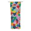 KESS InHouse More Hearts Curtain Panels (Set of 2)
