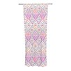 KESS InHouse Soft Petal Tribal Curtain Panels (Set of 2)