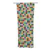 KESS InHouse Color Block Curtain Panels (Set of 2)