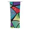 KESS InHouse Stain Glass 1 Curtain Panels (Set of 2)