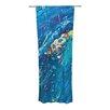 KESS InHouse Big Wave Curtain Panels (Set of 2)