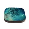 KESS InHouse Winter Moon by Sylvia Cook Coaster (Set of 4)