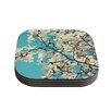 KESS InHouse Magnolias by Sylvia Cook Coaster (Set of 4)