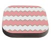 KESS InHouse Avalon Chevron by Monika Strigel Coaster (Set of 4)