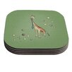 KESS InHouse Giraffe by Carina Povarchik Coaster (Set of 4)