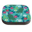 KESS InHouse Mexican Peacock by Anneline Sophia Coaster (Set of 4)