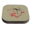 KESS InHouse Mermaids Lovely by Carina Povarchik Coaster (Set of 4)