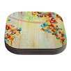 KESS InHouse Summer in Bloom by Ebi Emporium Coaster (Set of 4)