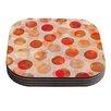 KESS InHouse Shepard's Delight Daisy Beatrice Orange Coaster (Set of 4)