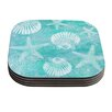 KESS InHouse Seaside by Sylvia Cook Coaster (Set of 4)