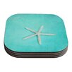 KESS InHouse Starfish by Sylvia Cook Coaster (Set of 4)