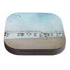 KESS InHouse Sea by Sylvia Cook Coastal Coaster (Set of 4)