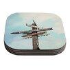 KESS InHouse Love Shack by Sylvia Cook Coaster (Set of 4)