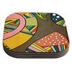 KESS InHouse Cosmic Aztec by Danny Ivan Coaster (Set of 4)