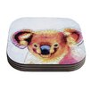 KESS InHouse Cute Koala by Ancello Coaster (Set of 4)