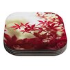 KESS InHouse September Afternoon by Ann Barnes Red Leaves Coaster (Set of 4)