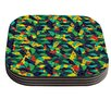 KESS InHouse Fruit and Fun by Akwaflorell Coaster (Set of 4)