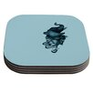 KESS InHouse Elephant Guitar II by Graham Curran Coaster (Set of 4)