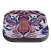 KESS InHouse Tiger by Brienne Jepkema Coaster (Set of 4)