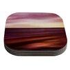 KESS InHouse Seascape Sunset by Iris Lehnhardt Red Orange Coaster (Set of 4)