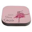 KESS InHouse Ballerina by Brienne Jepkema Coaster (Set of 4)