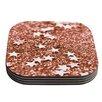 KESS InHouse Copper Glaze by Iris Lehnhardt Coaster (Set of 4)