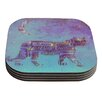 KESS InHouse Panther at Night by Marianna Tankelevich Coaster (Set of 4)
