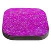 KESS InHouse Raspberry Sorbet by Beth Engel Coaster (Set of 4)