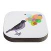 KESS InHouse Candy Birds by Sreetama Ray Coaster (Set of 4)