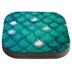 KESS InHouse Mermaid Tail by Theresa Giolzetti Coaster (Set of 4)