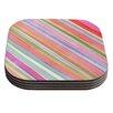 KESS InHouse Pastel Stripes by Heidi Jennings Coaster (Set of 4)