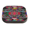 KESS InHouse African Motif by Vasare Nar Coaster (Set of 4)